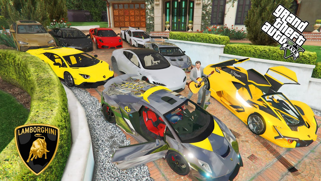 GTA 5 - Stealing 2020 Luxury Lamborghini Cars With Michael(Real Life Cars#12)