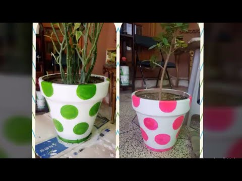 Easy pot painting design for your garden 🍃