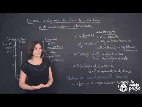 Impacts écologiques des choix alimentaires - Sciences 1ère ES/L - Les Bons Profs