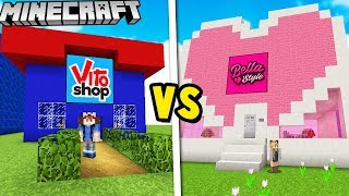 VITOSHOP VS BELLASTYLE W MINECRAFT | Vito vs Bella