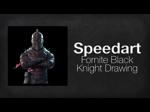 How To Draw Black Knight Fortnite Art Tutorial Drawing