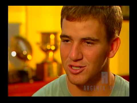 Young Eli Manning talking about dad Archie and brother Peyton