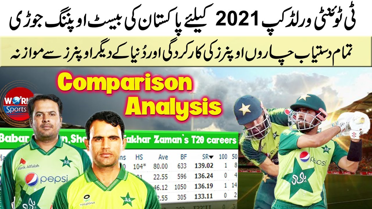 Pakistan's best opening pair for ICC T20 World Cup 2021 | Pakistan vs West Indies 3rd 2021