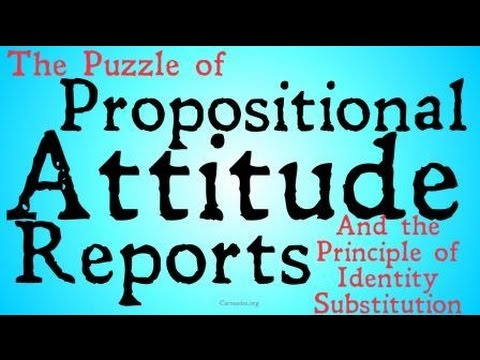 The Puzzle of Propositional Attitude Reports (Philosophy of Language)