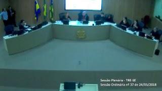 Sessão Ordinária nº 37/2018. Transmissão na íntegra dos julgamentos do Tribunal Regional Eleitoral de Sergipe TRE-SE.