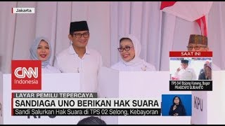 Download Video Momen Sandiaga Uno Berikan Hak Suara di TPS MP3 3GP MP4