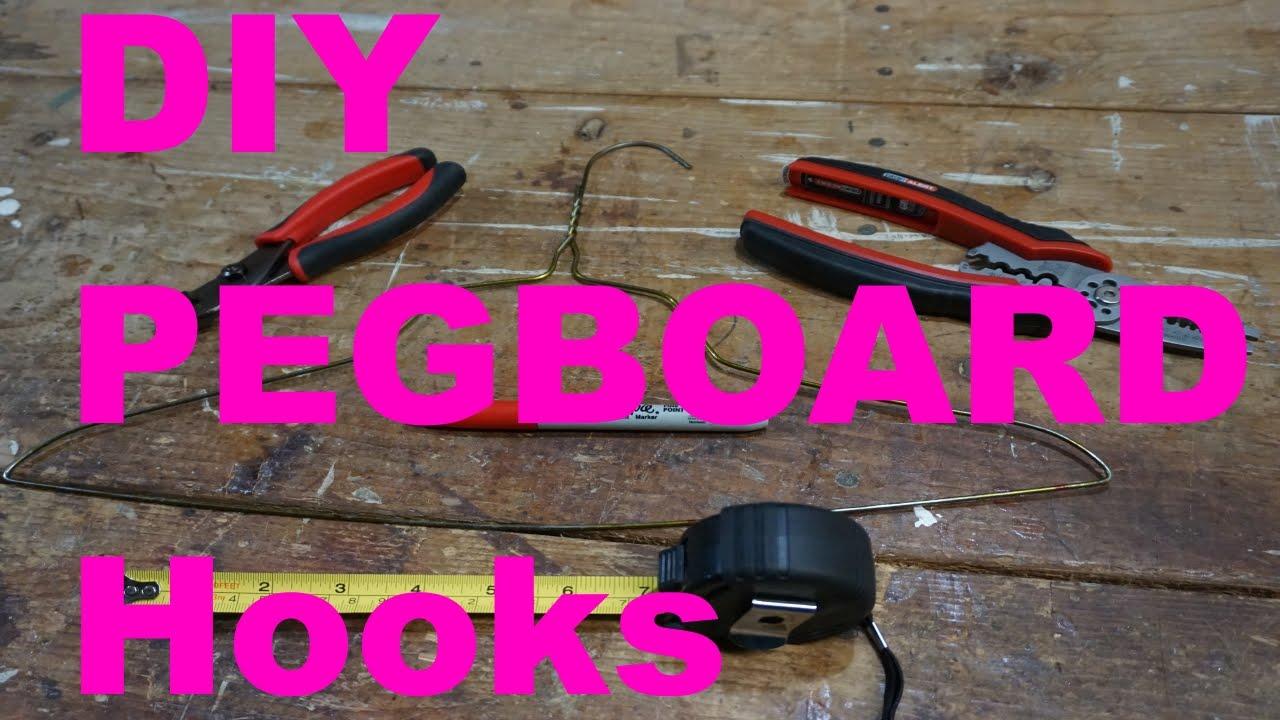 diy pegboard hooks use tools at home youtube. Black Bedroom Furniture Sets. Home Design Ideas