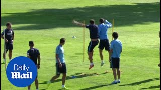Diego Simeone oversees his intense training methods - Daily Mail