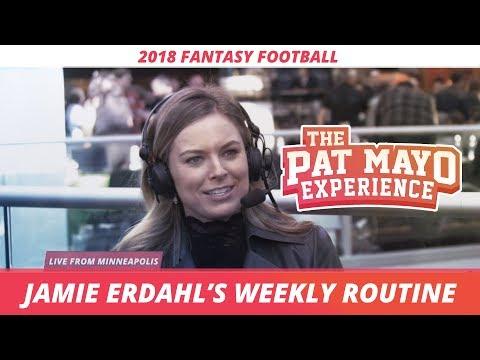 Jamie Erdahl explains her hectic schedule during the NFL season.