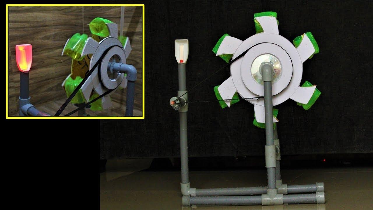How to Make a Water Turbine - Generator using water