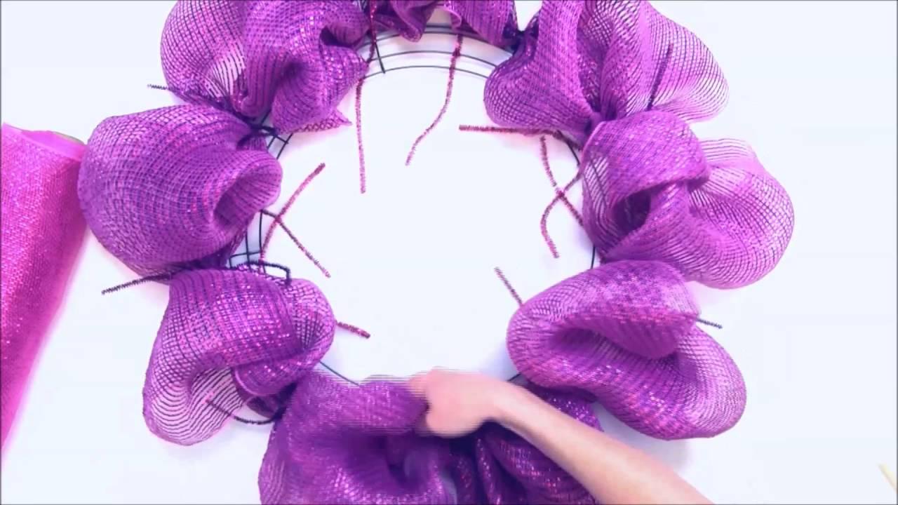 Deco Mesh Wreath Youtube