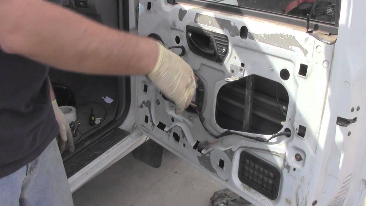 Ford Ranger RemoveReplace Power Window Regulator  YouTube