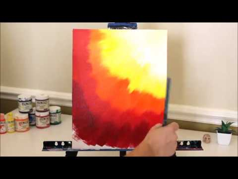 Warm Colors Only Acrylic Abstract Quick Painting Idea