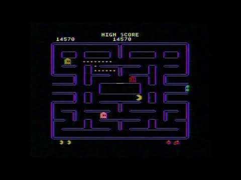 Pac-Man (Atari 5200) Hardware Capture / Free Footage