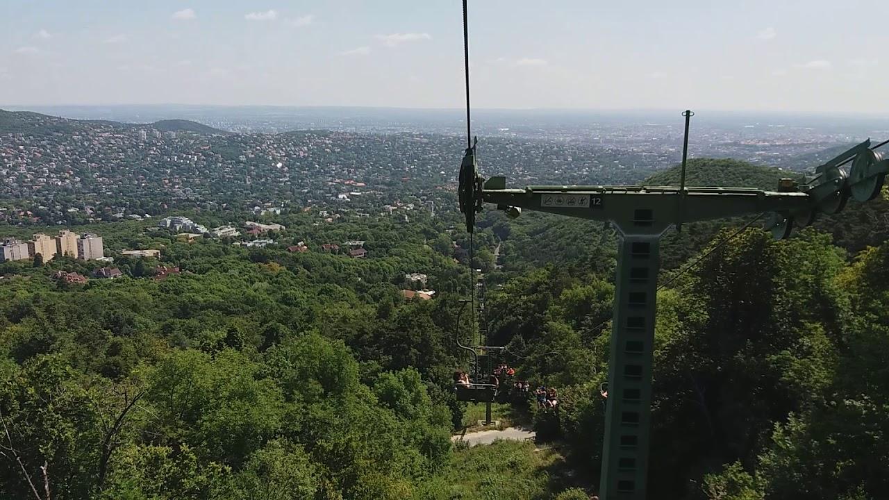 Спуск с горы Янош, Будапешт, на конатном фуникулёре