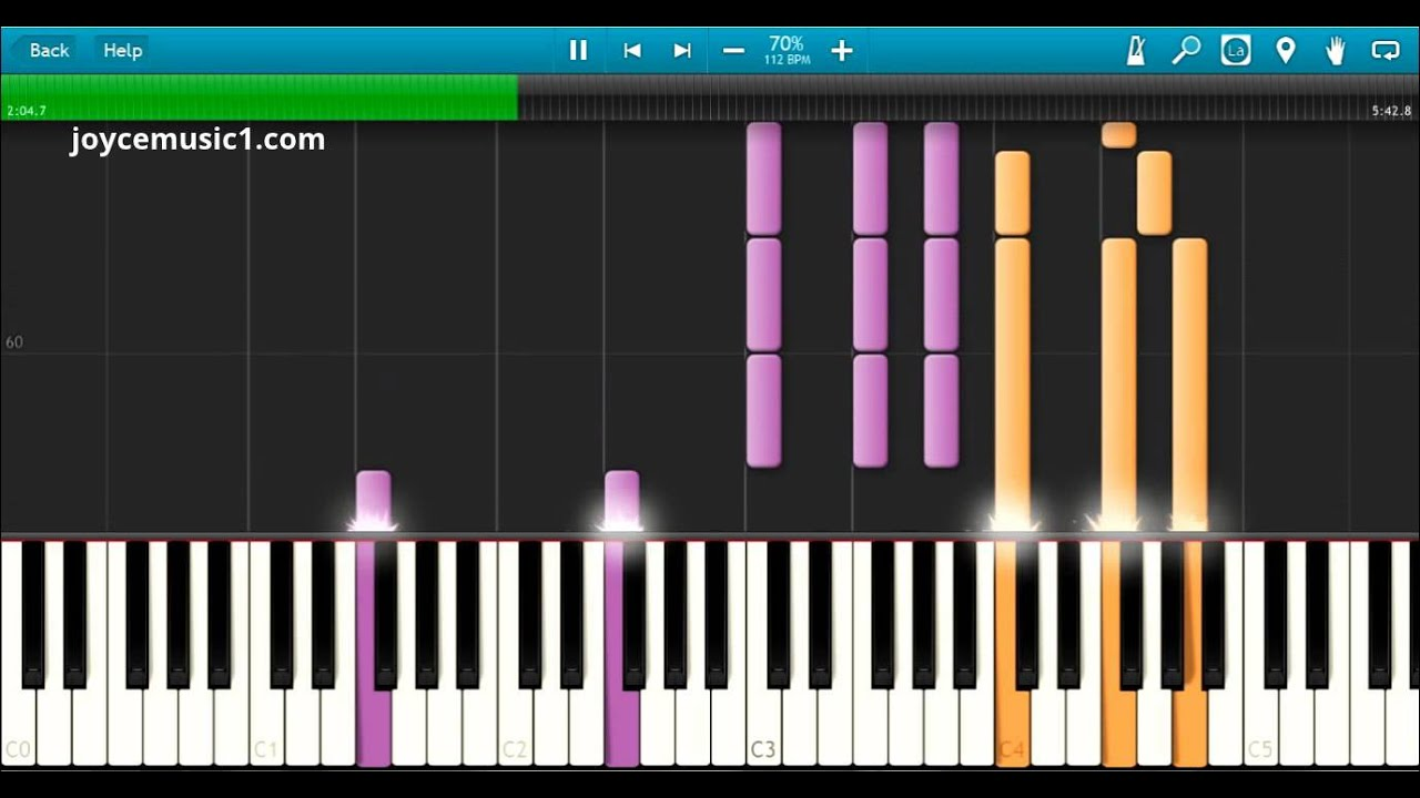 Sia - Chandelier Piano Version Tutorial - 70% speed - YouTube
