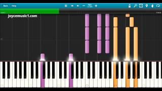 Sia Chandelier Piano Version Tutorial 70% speed