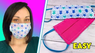 HOW TO MAKE FACE MASK WITH FILTER POCKET ~ DIY Reusable Face Mask