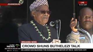 Prince Mangosuthu Buthelezi addresses violent incidents in Gauteng: 08 Sept 19