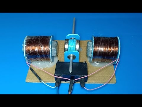 DIY 220V AC motor , How to make a powerful AC motor , Super strong