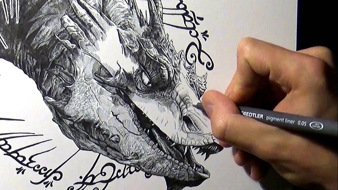 dessiner smaug le hobbit youtube
