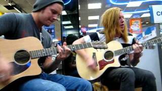 We The Kings - Check Yes Juliet  (Acoustic) Lubbock Tx