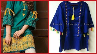 Download Latest Stylish Summer Kurta kurti Frocks Stylish Shorts Designs For Girls 2019/ Latest Fashion