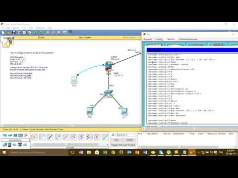 Step by Step Configure Internet Access on Cisco ASA5505 on Cisco Packet Tracer_Full Video