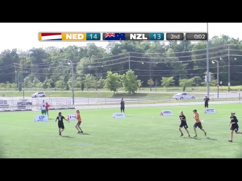 2018 World Jr. Ultimate Championships | Game 5 - Women: Netherlands vs New Zealand | Aug. 19