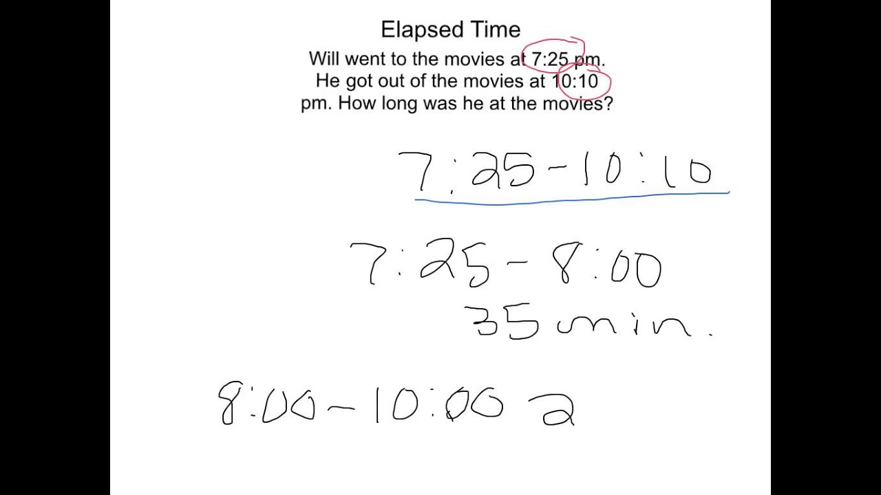 medium resolution of 4th Grade: Elapsed Time Tutorial 2 - YouTube