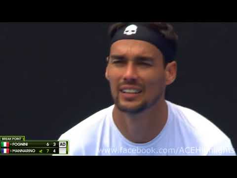 Sydney 2018 - Fabio Fognini vs Adrian Mannarino - Full Highlights HD