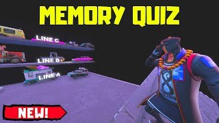 HAVE I GOT THE BEST MEMORY?! Memory Quiz in Fortnite: Creative