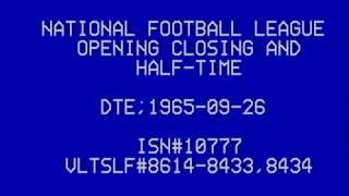 1965 NFL New York Giants vs Philadelphia Eagles TV Broadcast short clip