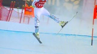 Lindsey Vonn Avoids Disaster - Downhill - Val d