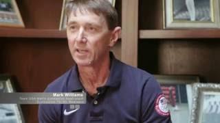 Mark Williams on coaching gymnastics team