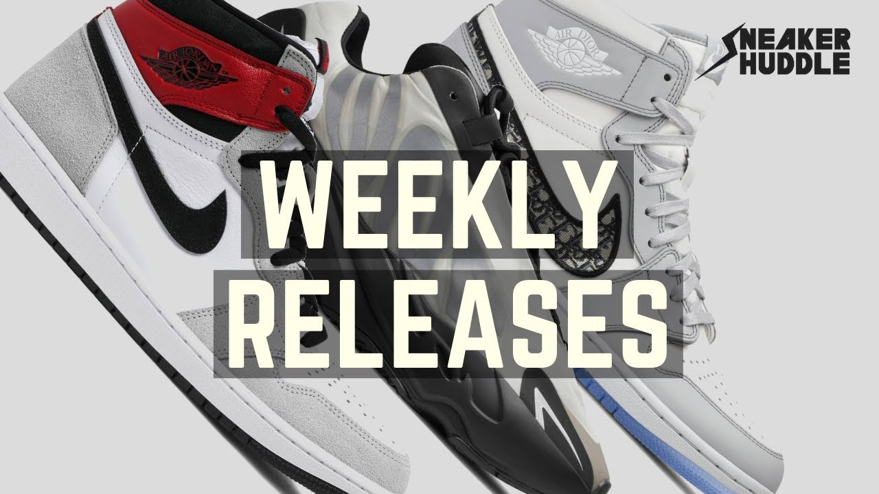 Dior Air Jordan 1 |  Nike Air Jordan Light Smoke Grey | Yeezy MNVN | Sneaker Huddle Weekly Releases