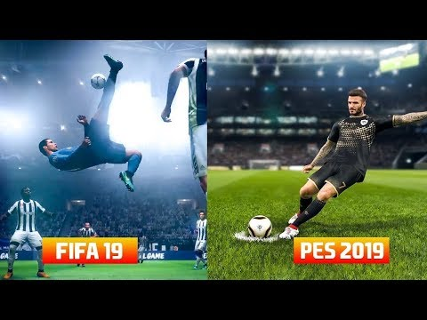 Pes 2019 Vs FIFA 19 Graphics Comparison