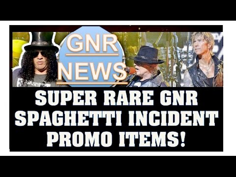 Guns N' Roses: Super RARE Spaghetti Incident? Promo Items Including Food & Transistor Radio!