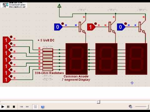 Multiple 7 Segment LED interface to microcontrollers