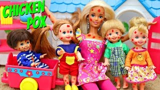 Barbie School Gets CHICKEN POX Kelly Toddler Day Care Center Rash With Beauty & The Beast Belle