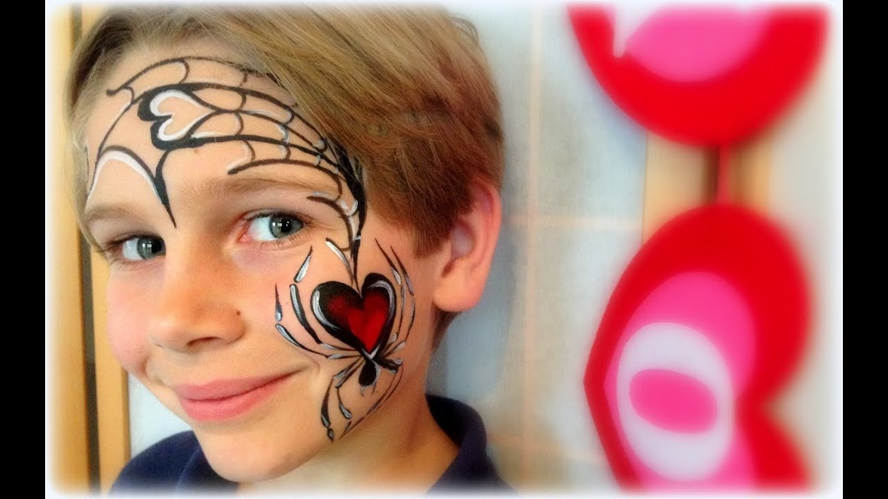 Boy Valentine's Face Painting - YouTube