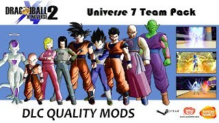 UNIVERSE 7 TEAM PACK! All Variations Fully Accurate | Dragon Ball Xenoverse 2 MODS