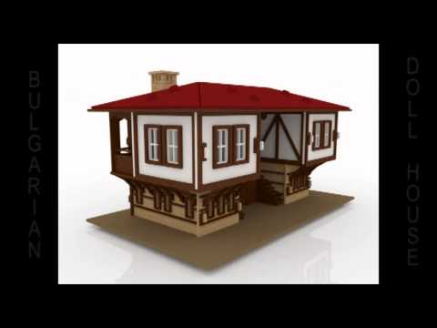 Traditional Bulgarian European style DollHouse CNC Router Plans