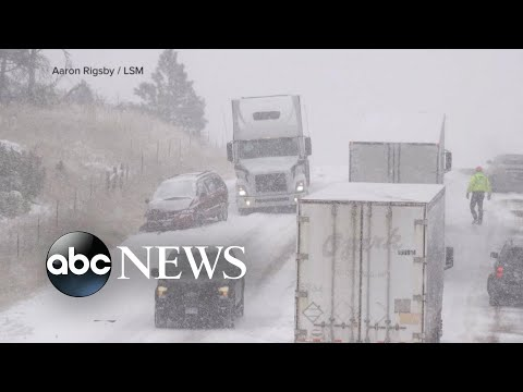 'Potentially historic' winter storm brings 2 feet of snow to Rockies