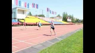 Легкая атлетика. Первенство Тамбовской области 2014. Забег девушек 1999-2000 г. на 800 м.