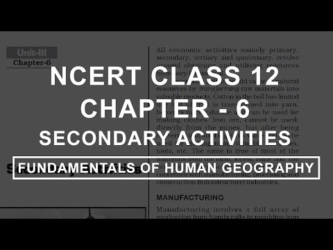Secondary Activities - Chapter 6 Geography NCERT Class 12