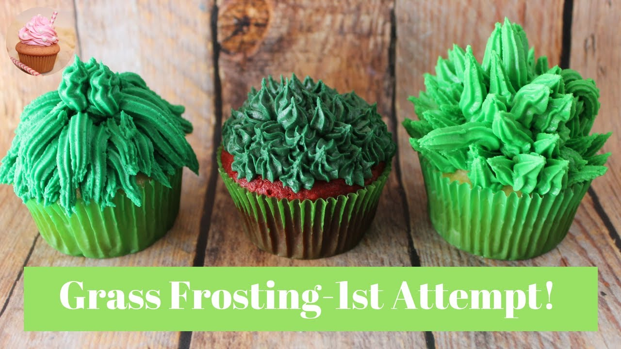Grass Piping Tip | How To Make Grass Frosting |Grass ...