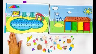 PAPER QUIET BOOK IN ALBUM PAPERCRAFT SWIMMING POOL FOR DOLLS FAMILY DIY FOR KIDS