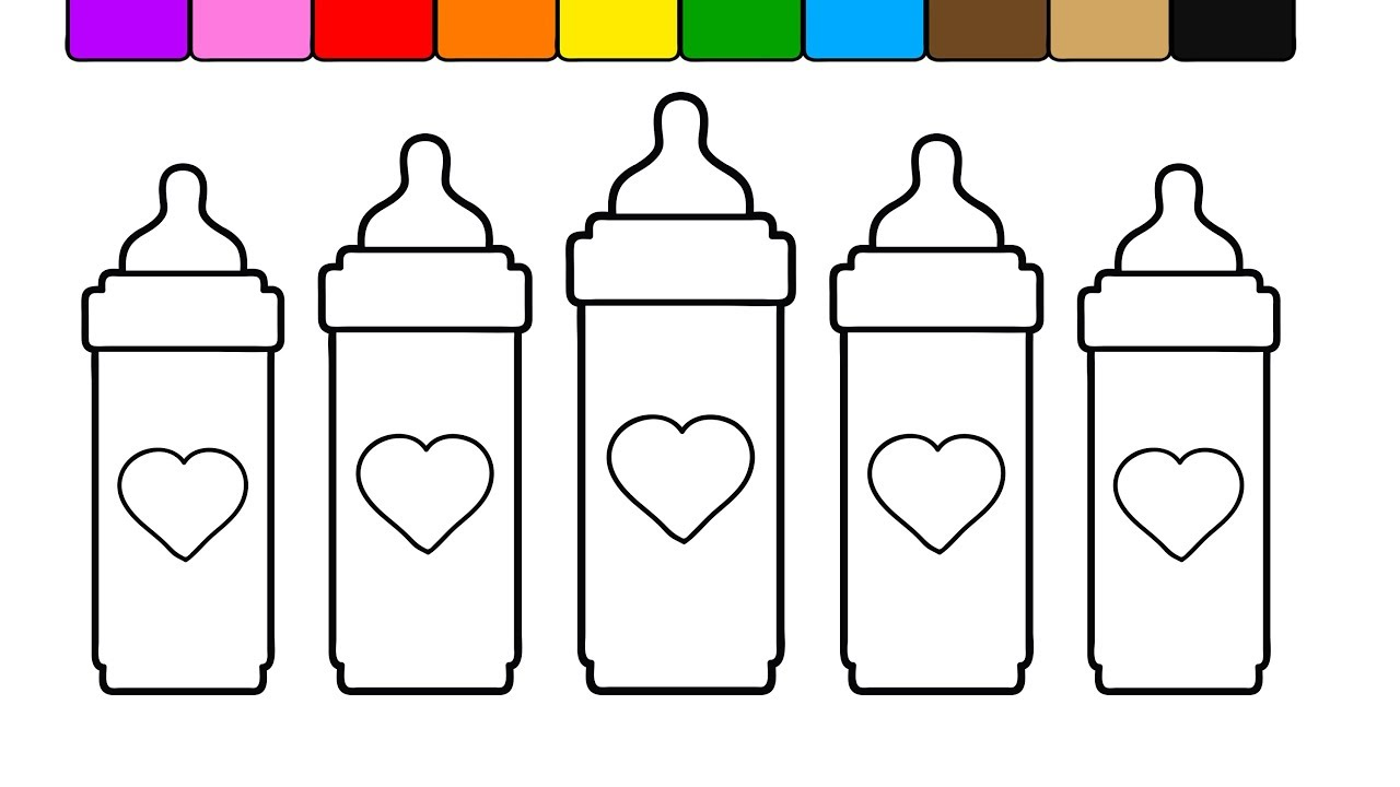 Learn Colors for Kids and Color this Tall Heart Baby