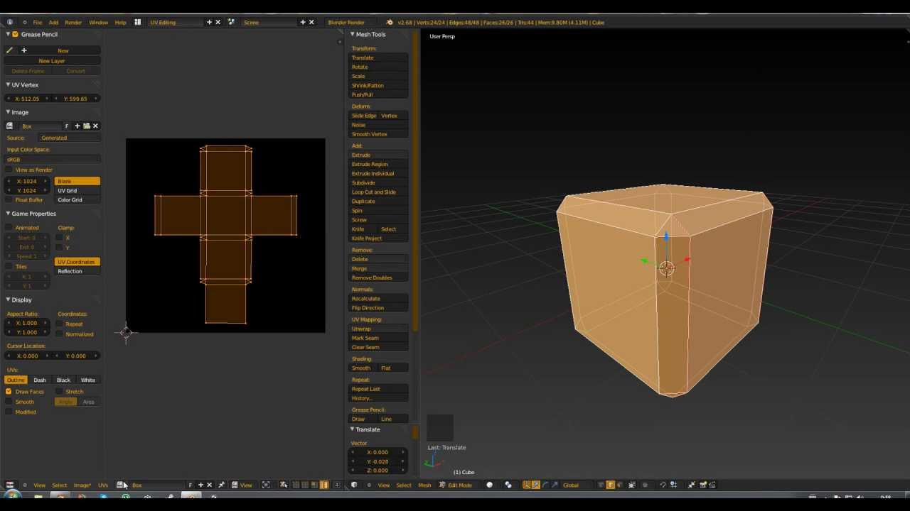 1 2 blender tutorial box modeling exporting uv map youtube